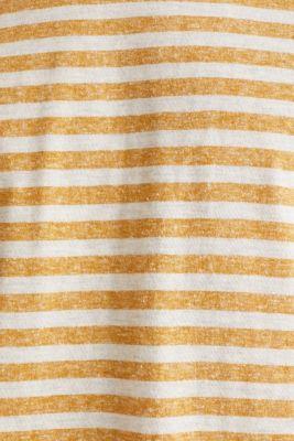 Melange jersey T-shirt with stripes, HONEY YELLOW 3, detail