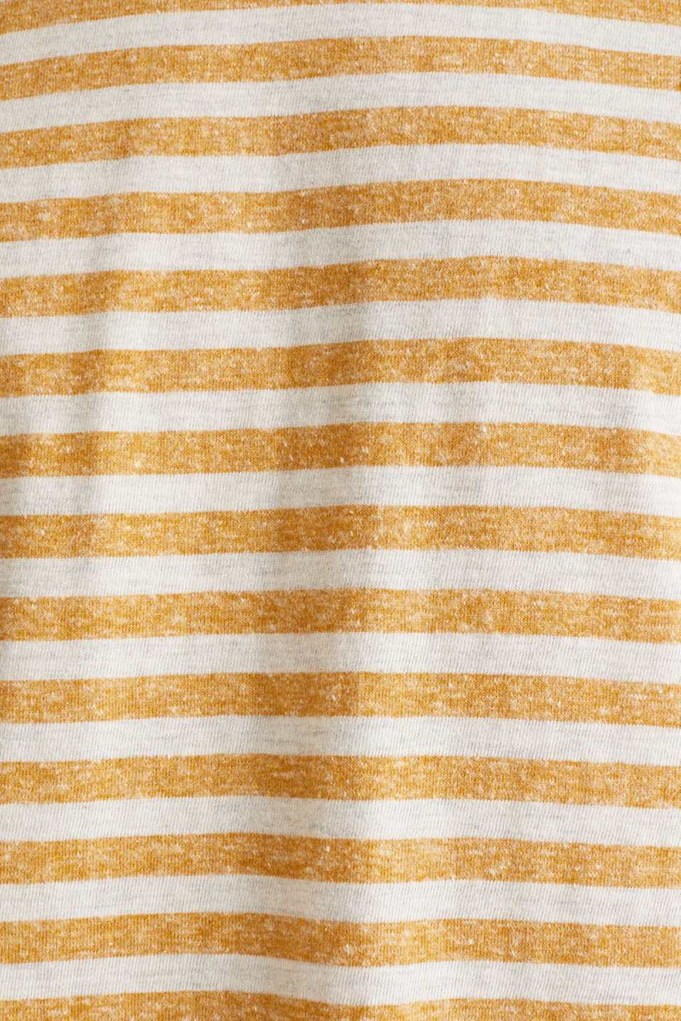 Melange jersey T-shirt with stripes, HONEY YELLOW 3, detail image number 4