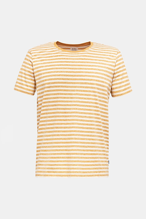 Melange jersey T-shirt with stripes