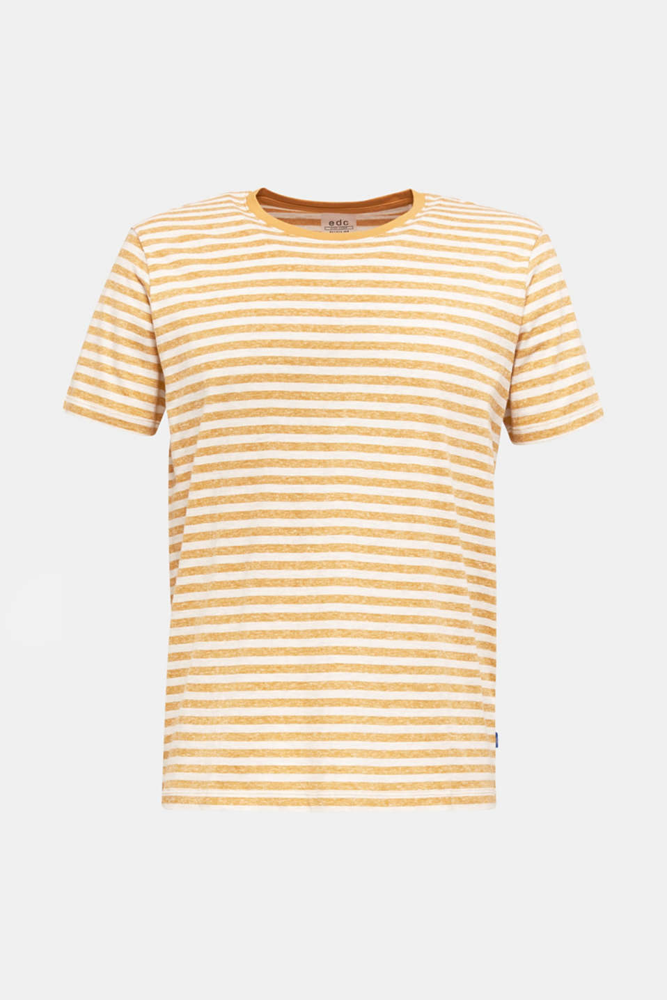Melange jersey T-shirt with stripes, HONEY YELLOW 3, detail image number 6