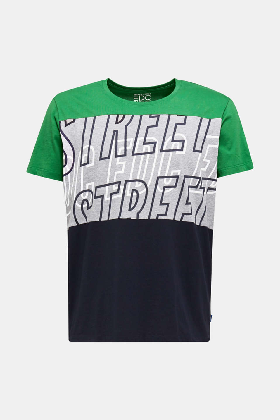 Colour block jersey T-shirt, GREEN 2, detail image number 5