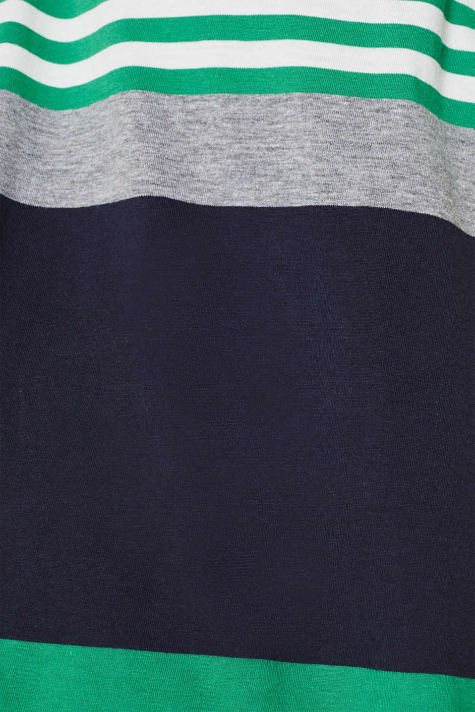 Jersey T-shirt with colour blocking, GREEN 3, detail image number 2