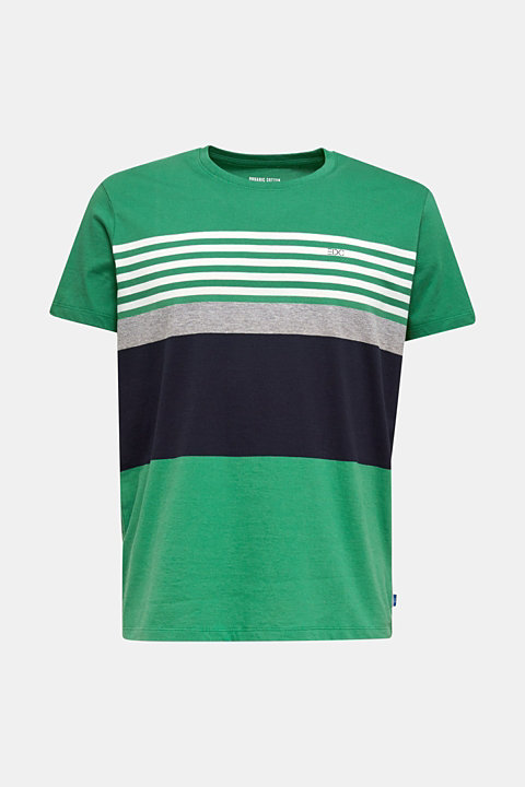 Jersey T-shirt with colour blocking