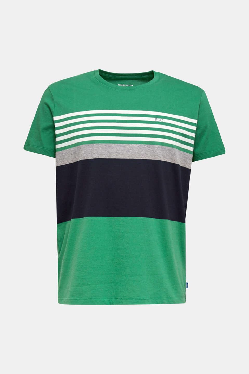Jersey T-shirt with colour blocking, GREEN 3, detail image number 4