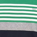 Jersey T-shirt with colour blocking, GREEN 3, swatch