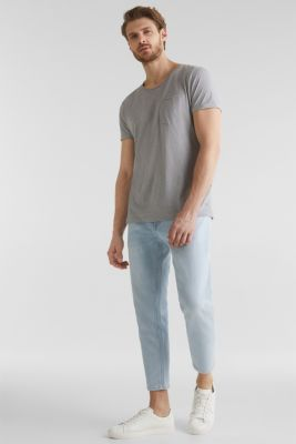 Jersey T-shirt in a casual look, MEDIUM GREY 5, detail
