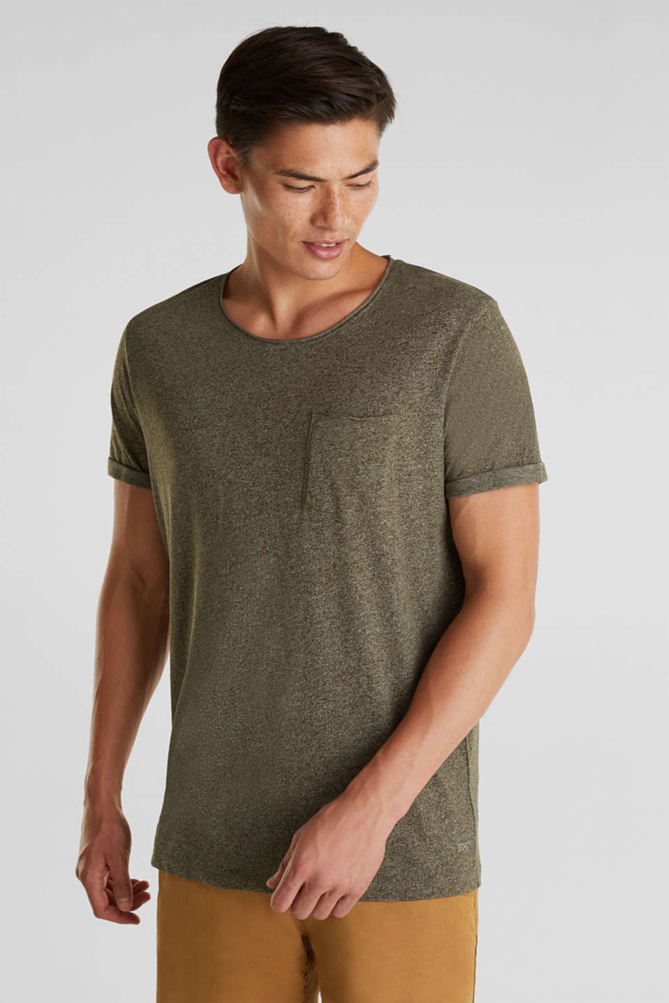 Jersey T-shirt in a casual look, OLIVE 5, detail image number 0