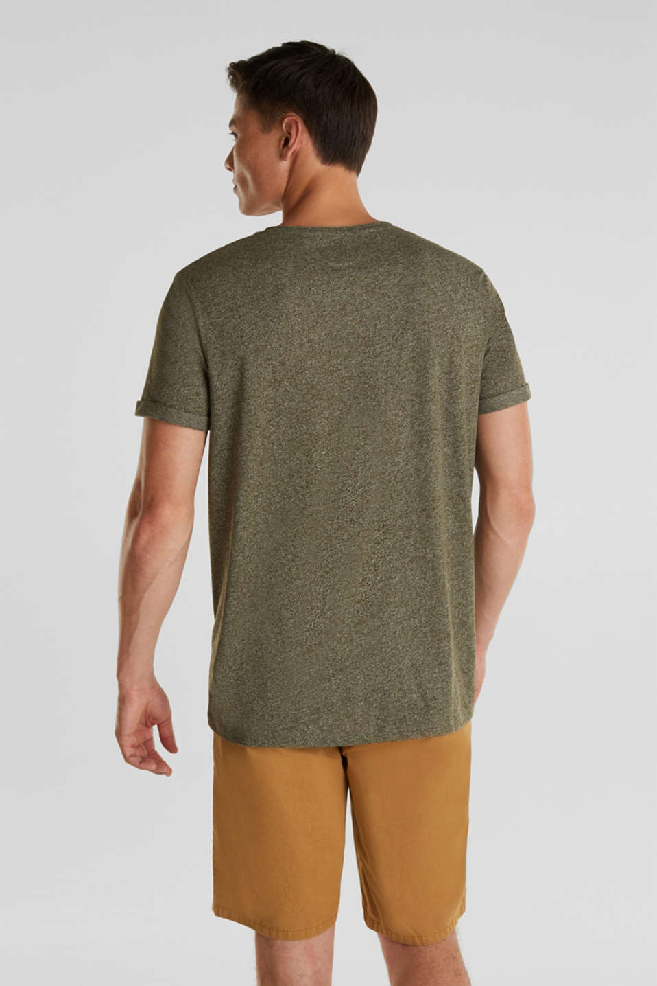 Jersey T-shirt in a casual look, OLIVE 5, detail image number 3