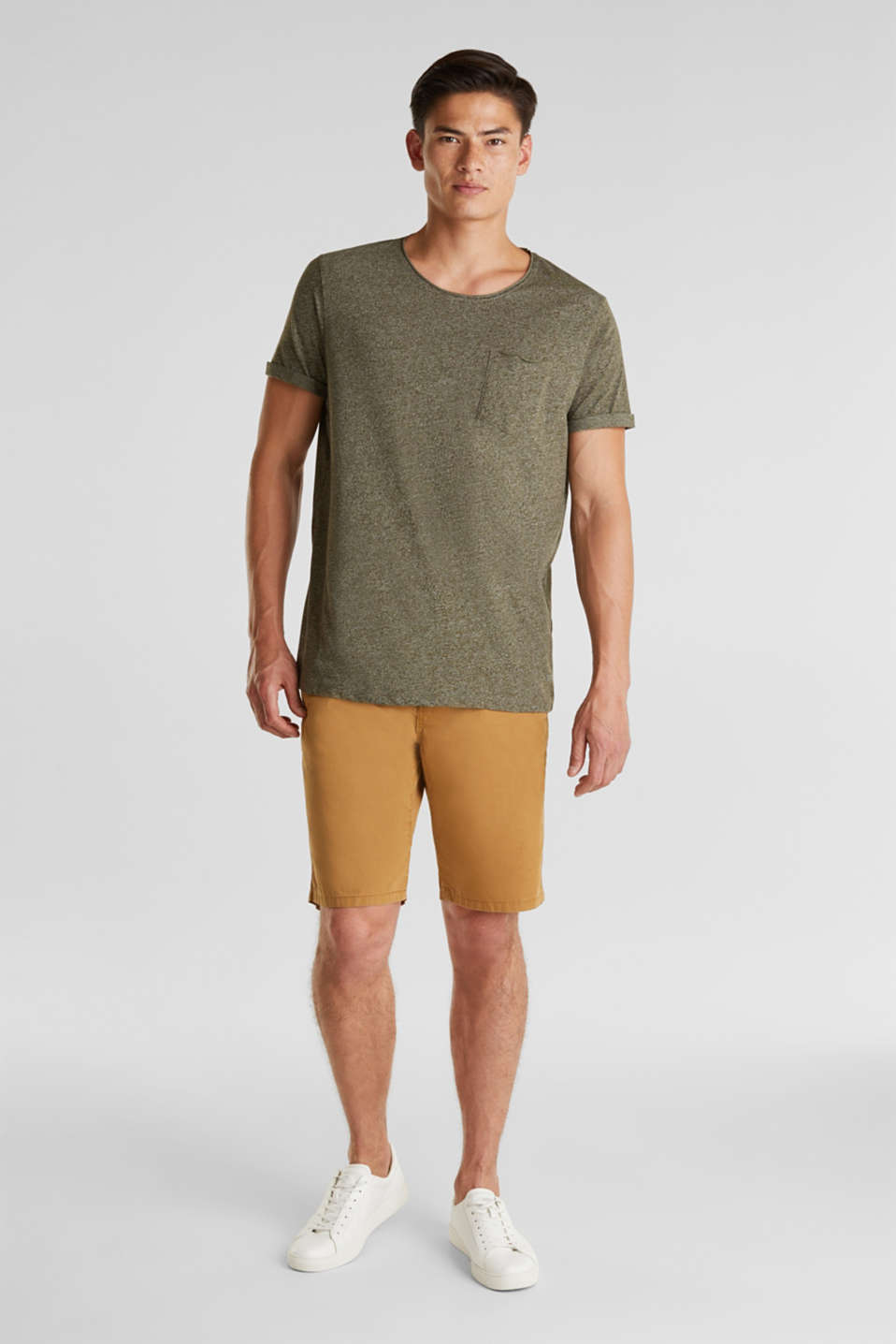 Jersey T-shirt in a casual look, OLIVE 5, detail image number 2