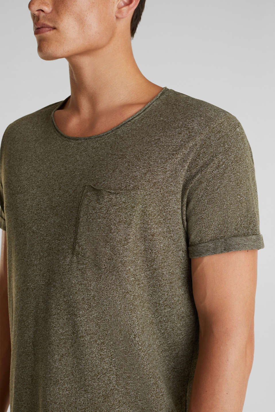 Jersey T-shirt in a casual look, OLIVE 5, detail image number 1