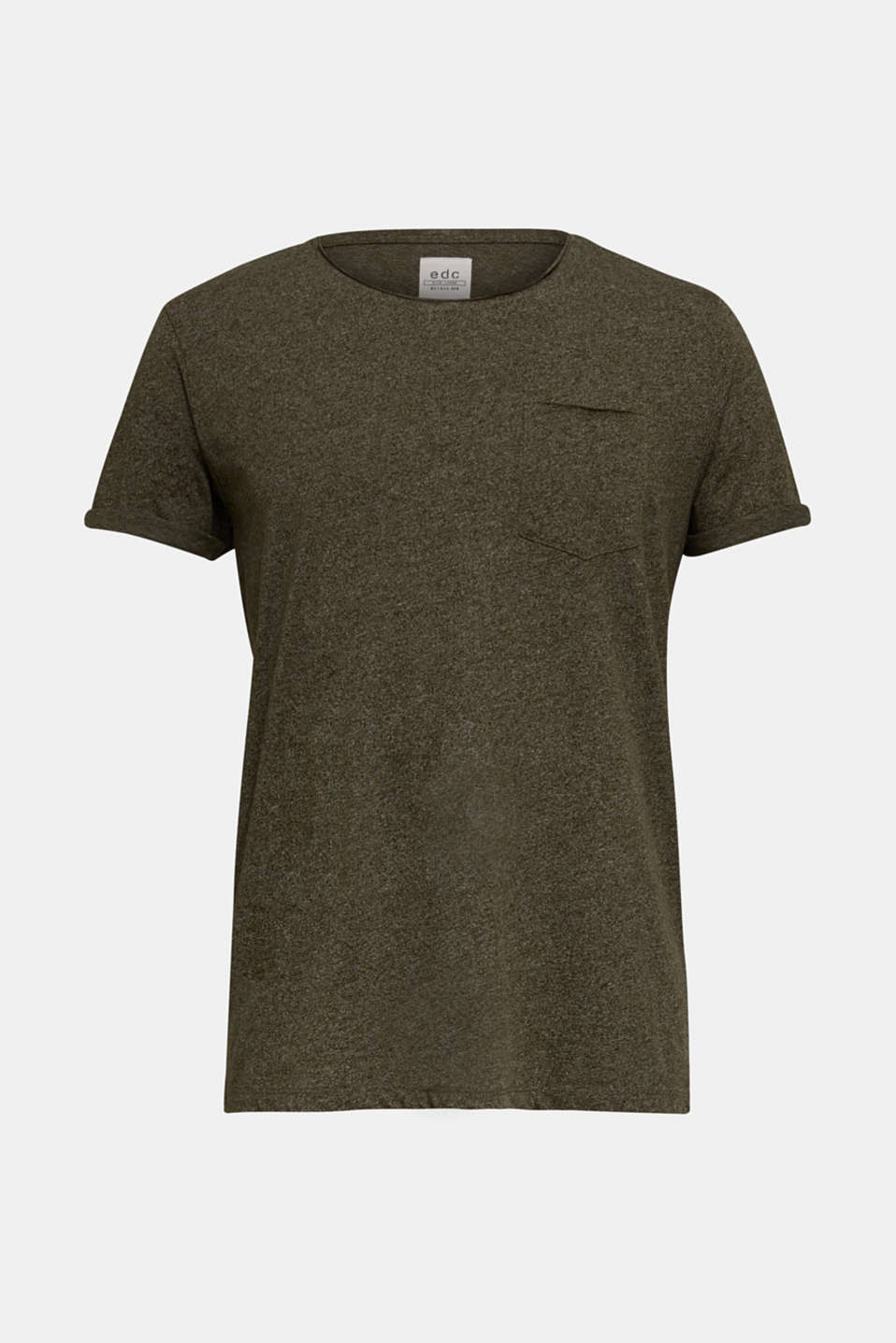 Jersey T-shirt in a casual look, OLIVE 5, detail image number 6