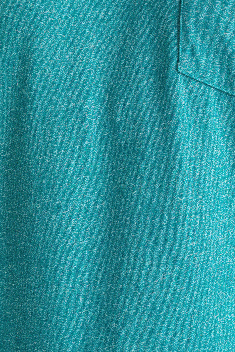 Jersey T-shirt in a casual look, AQUA GREEN 5, detail image number 4