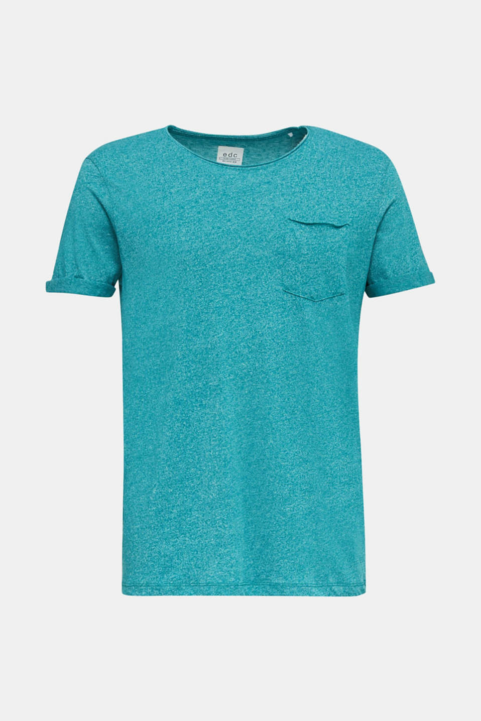 Jersey T-shirt in a casual look, AQUA GREEN 5, detail image number 7