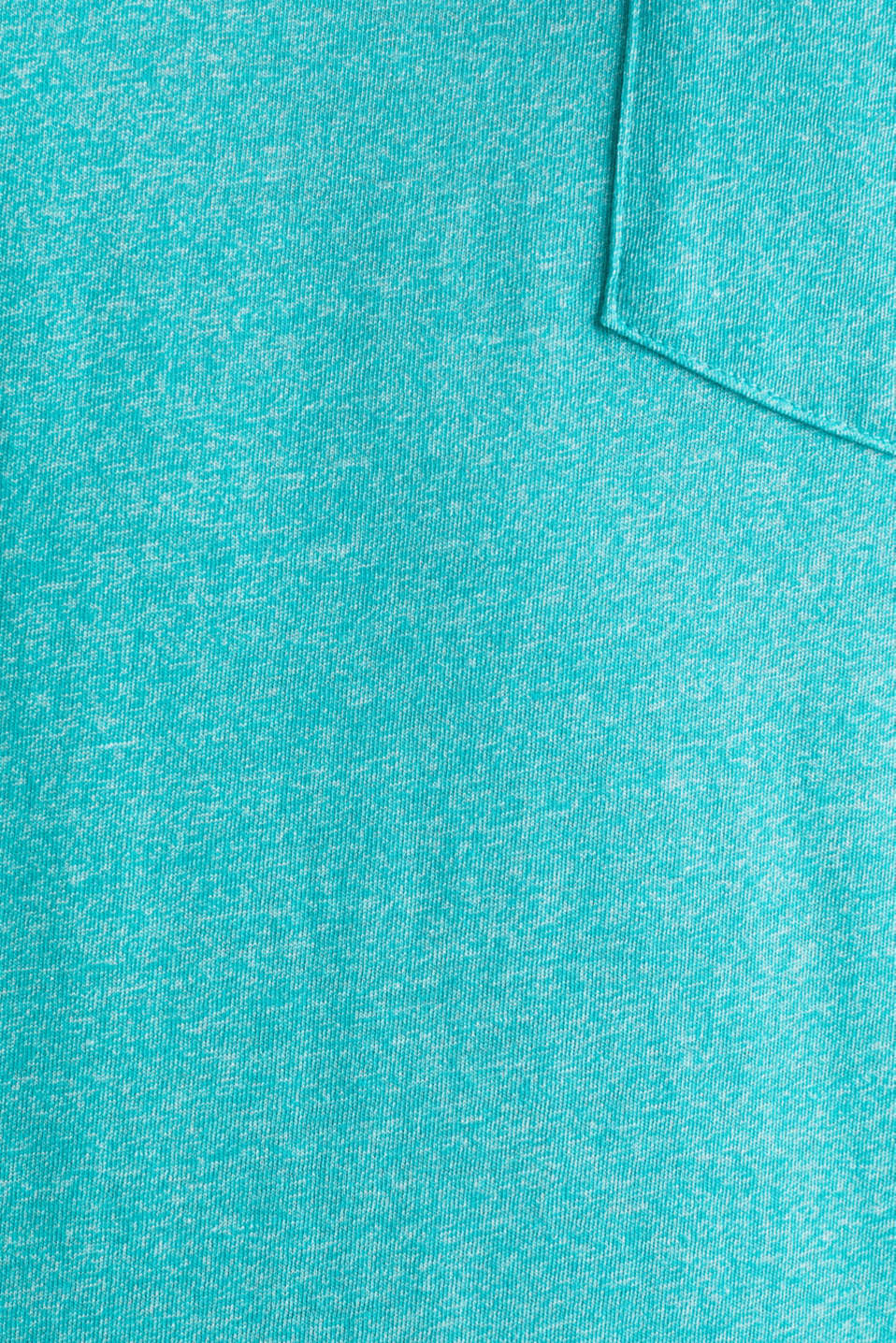 Jersey T-shirt in a casual look, LIGHT AQUA GREEN 5, detail image number 4