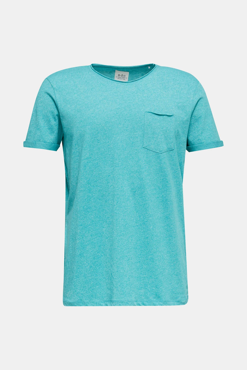 Jersey T-shirt in a casual look, LIGHT AQUA GREEN 5, detail image number 5