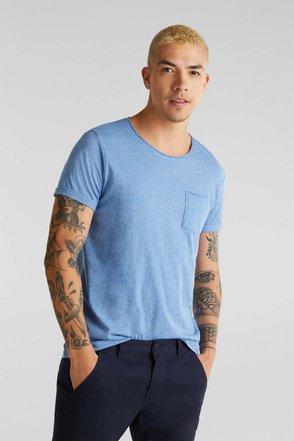 Jersey T-shirt in a casual look, BLUE 5, detail image number 0
