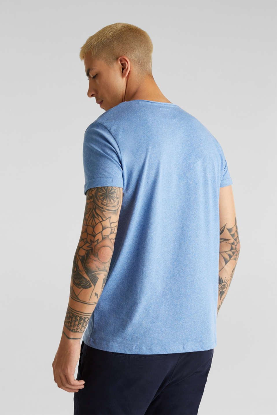 Jersey T-shirt in a casual look, BLUE 5, detail image number 3