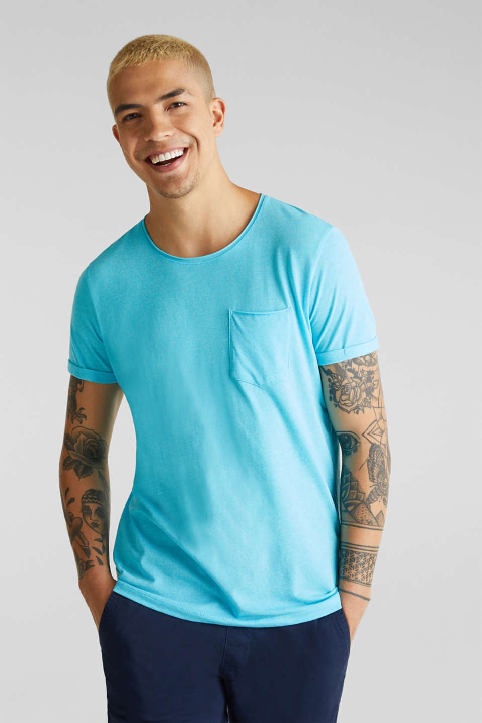 Jersey T-shirt in a casual look, LIGHT BLUE, detail image number 0