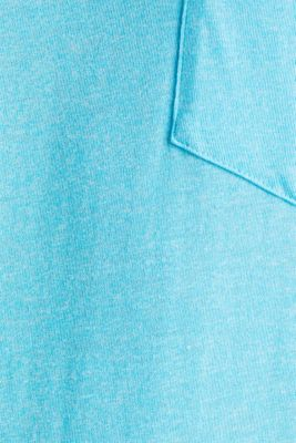 Jersey T-shirt in a casual look, LIGHT BLUE, detail