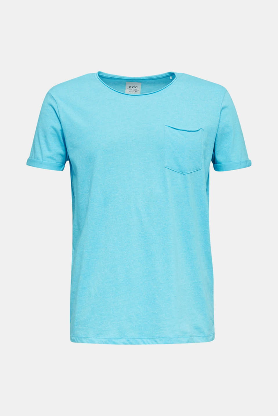 Jersey T-shirt in a casual look, LIGHT BLUE, detail image number 7