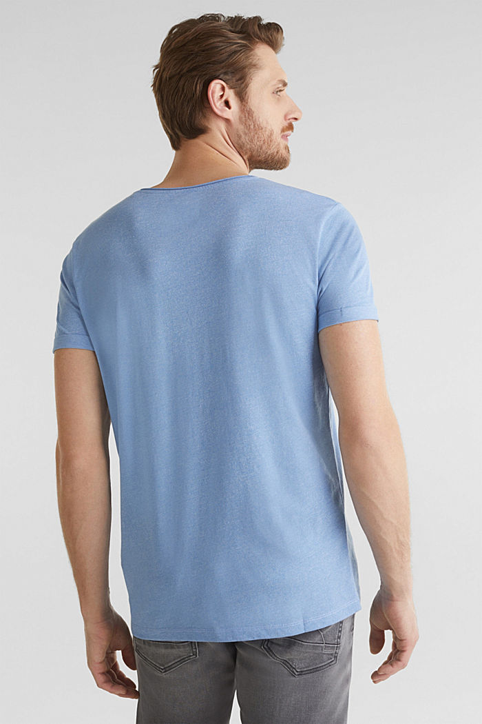 Jersey T-shirt in a casual look, LIGHT BLUE, detail image number 3