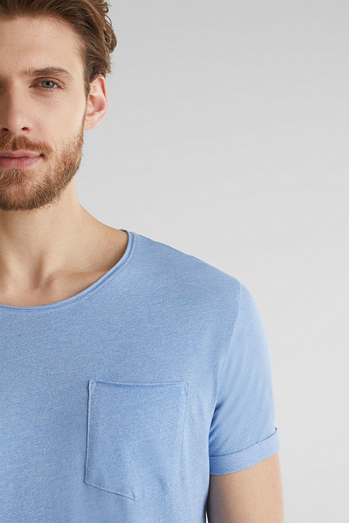 Jersey T-shirt in a casual look, LIGHT BLUE, detail image number 1