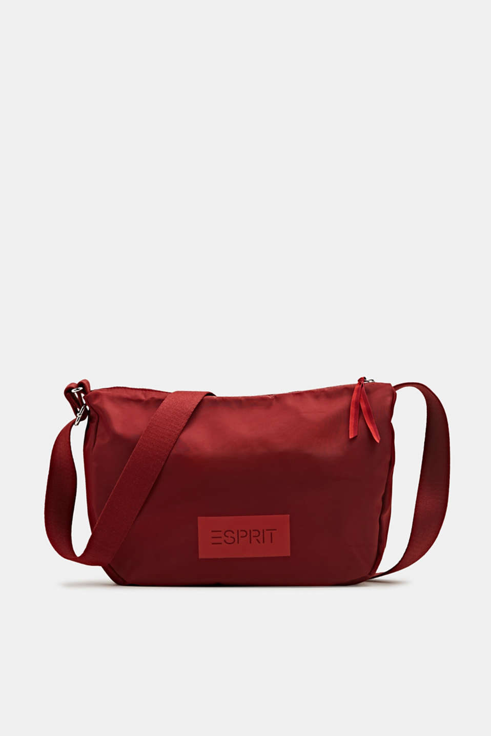 Logo shoulder bag made of nylon, RED, detail image number 0