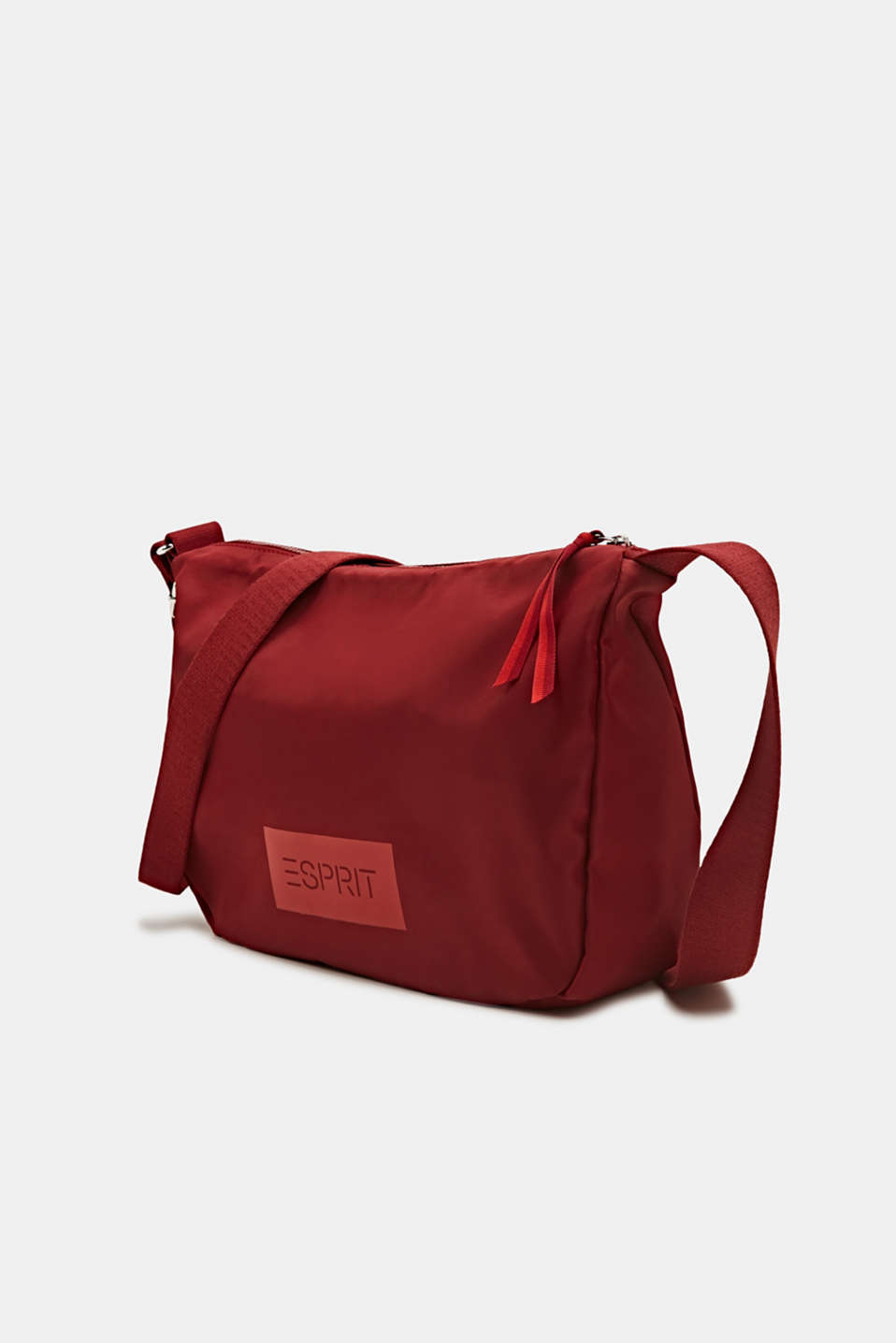 Logo shoulder bag made of nylon, RED, detail image number 2
