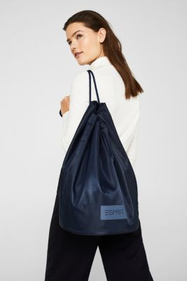 Nylon pouch with monogram, NAVY, detail