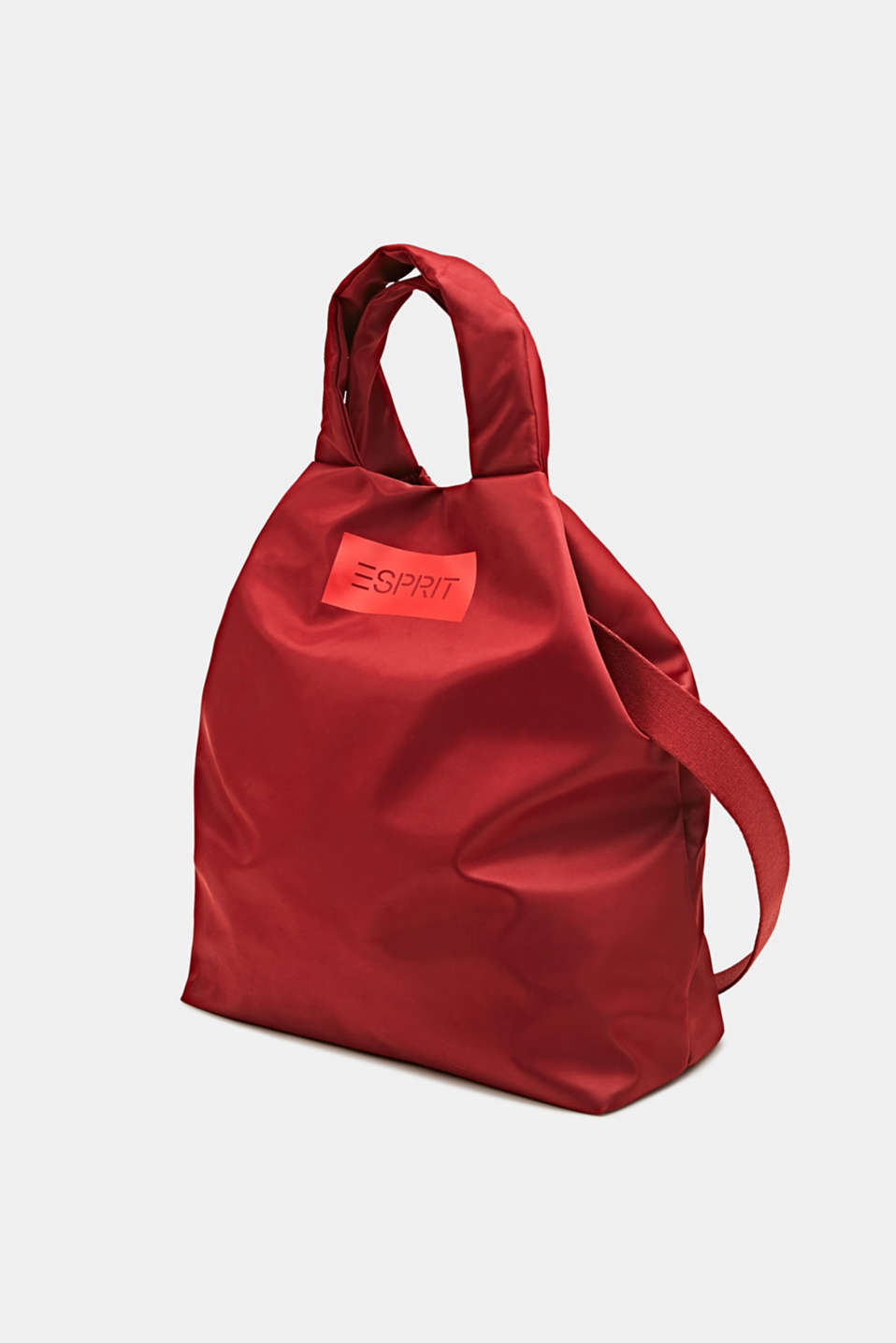 Nylon bag with a logo, can be worn in two different ways, RED, detail image number 2