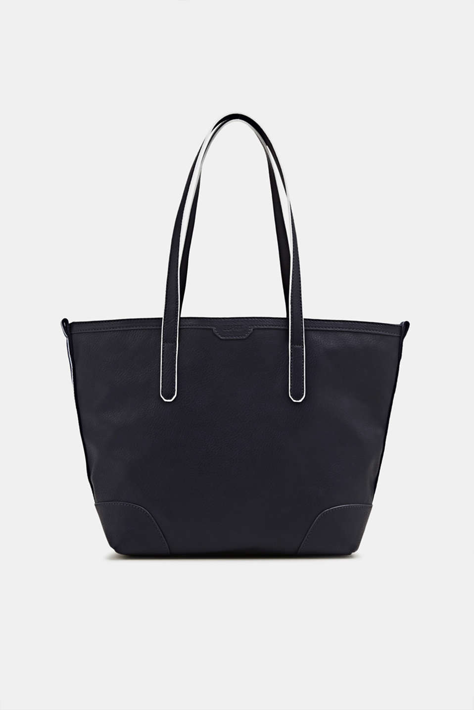 Shopper with woven tape embellishment, NAVY, detail image number 0