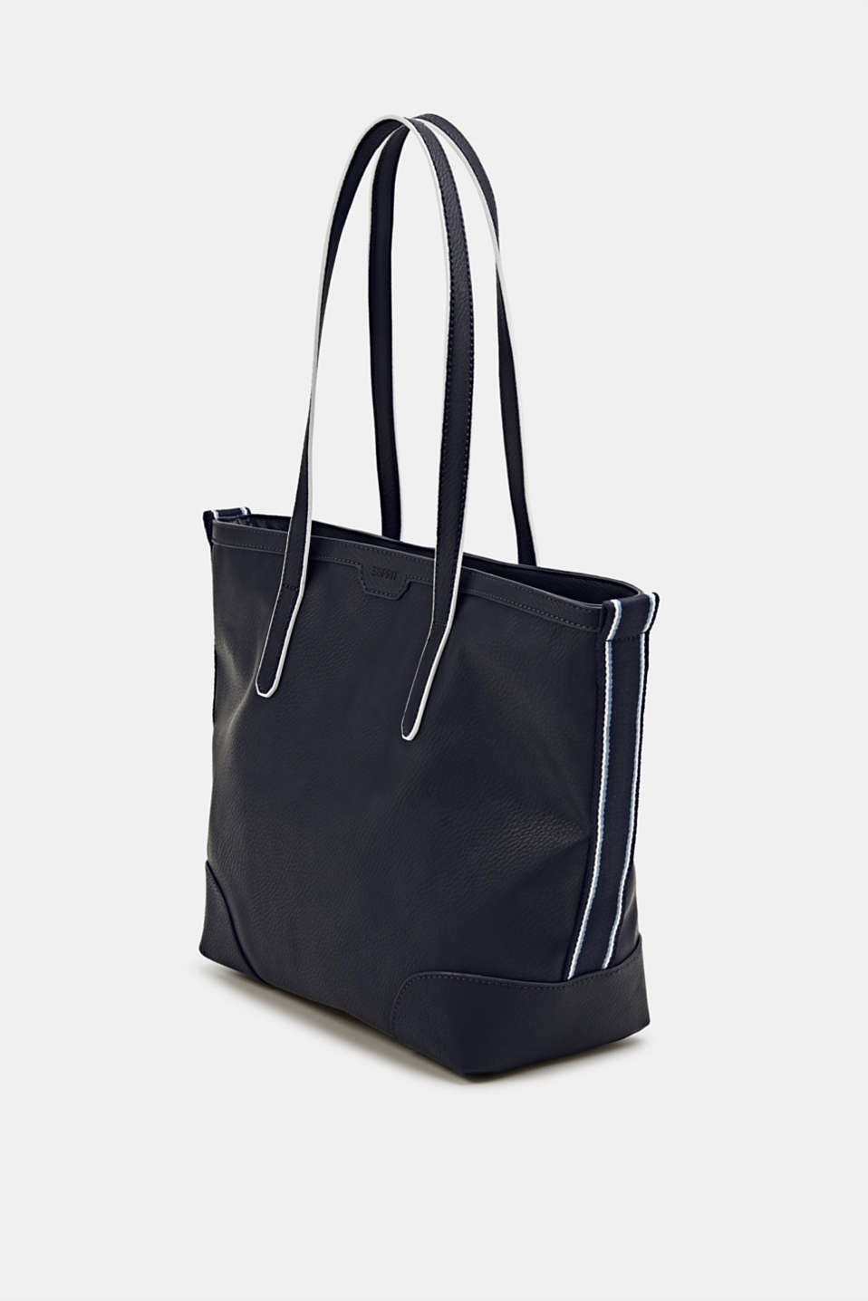 Shopper with woven tape embellishment, NAVY, detail image number 2