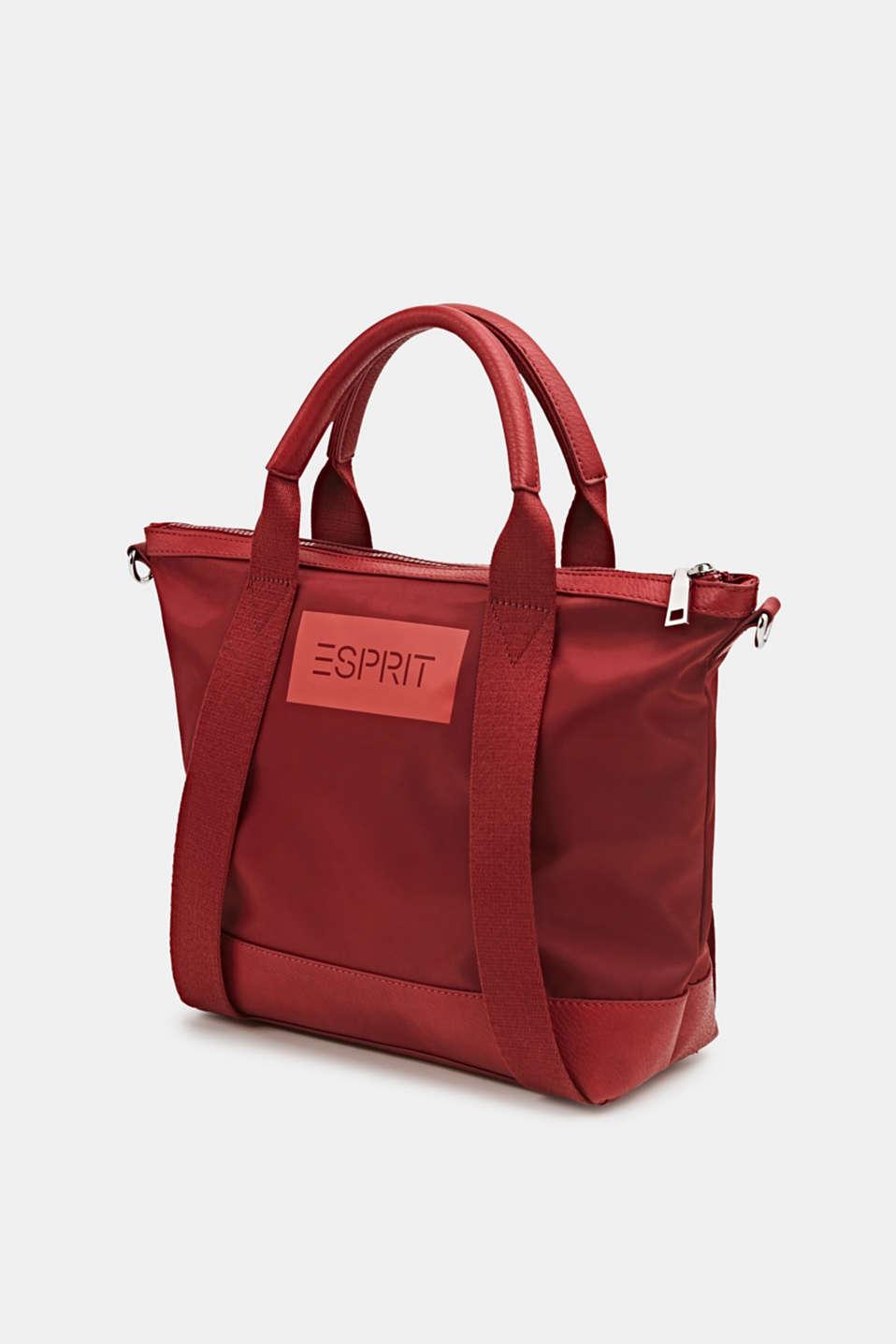 Material mix handbag, RED, detail image number 2