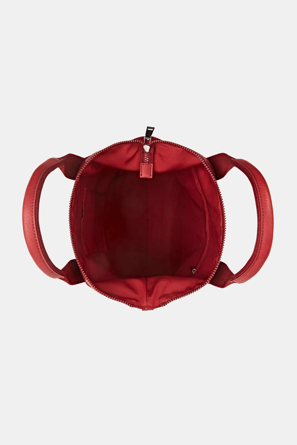 Material mix handbag, RED, detail image number 4