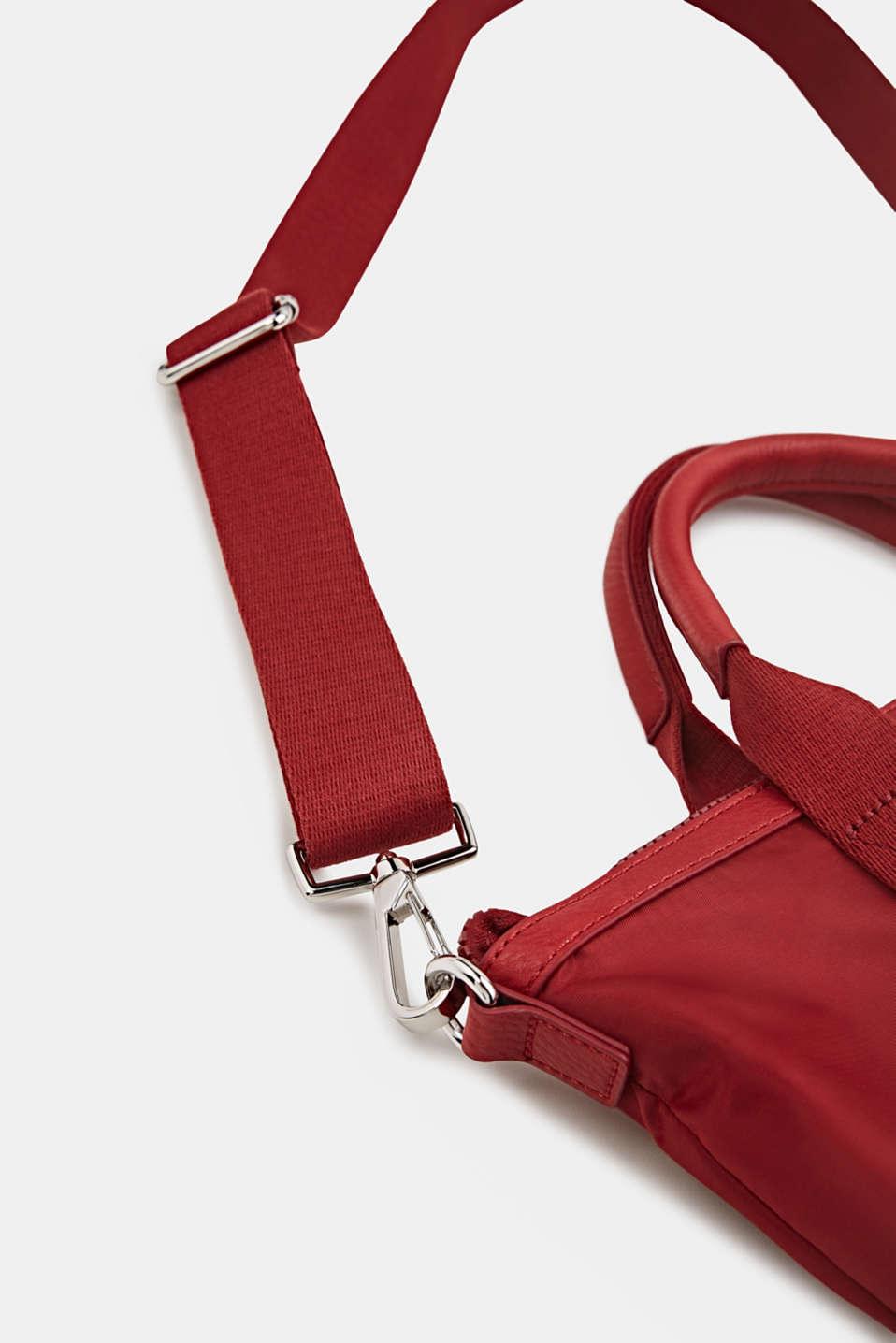 Material mix handbag, RED, detail image number 3