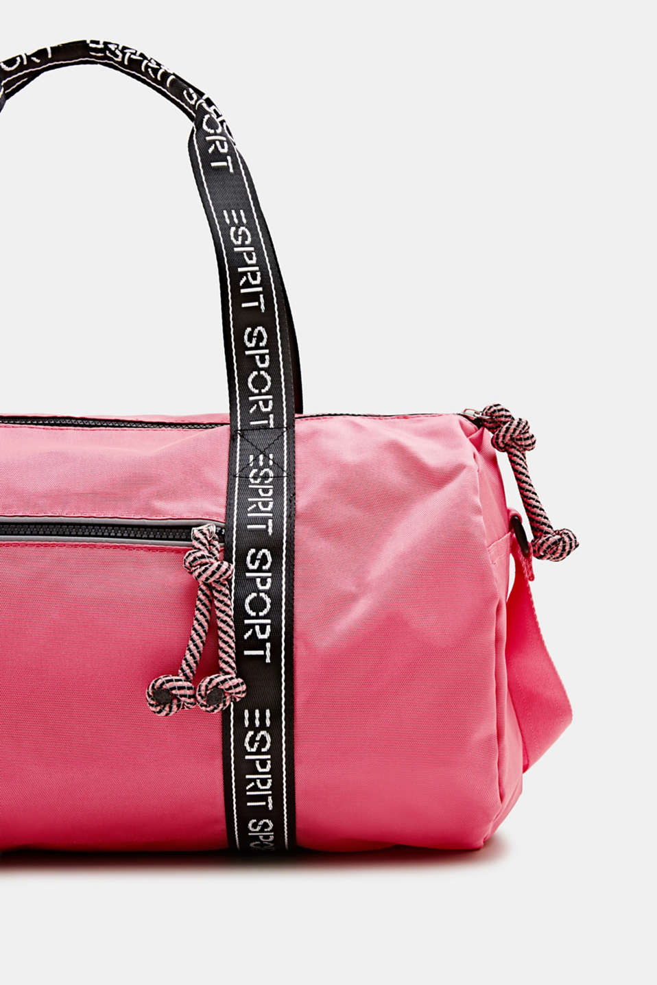 Nylon weekender with a logo trim, CORAL, detail image number 1