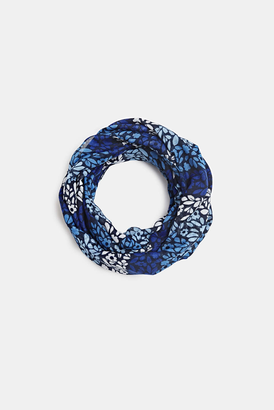 Snood with abstract floral print, NAVY, detail image number 0