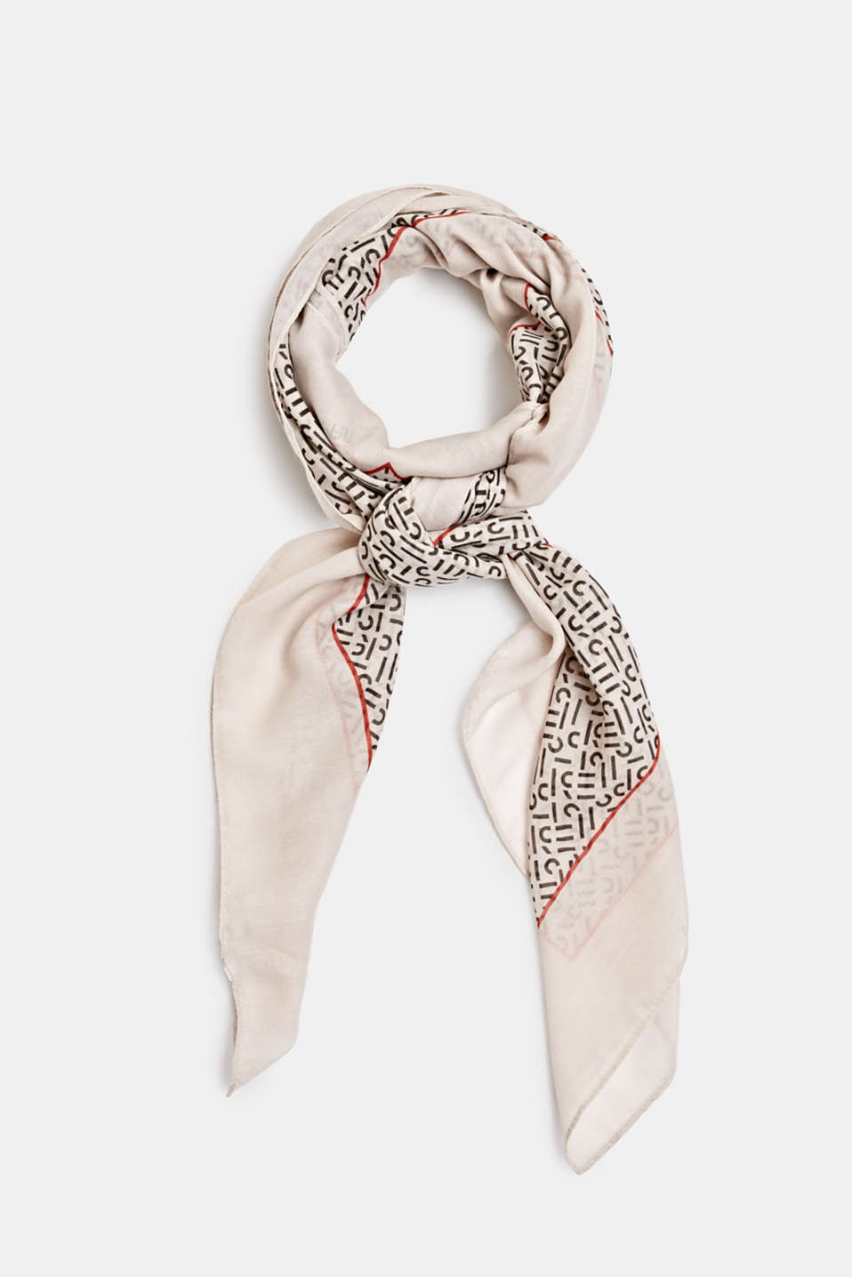 Monogram scarf made of recycled fabric, ICE 2, detail image number 0