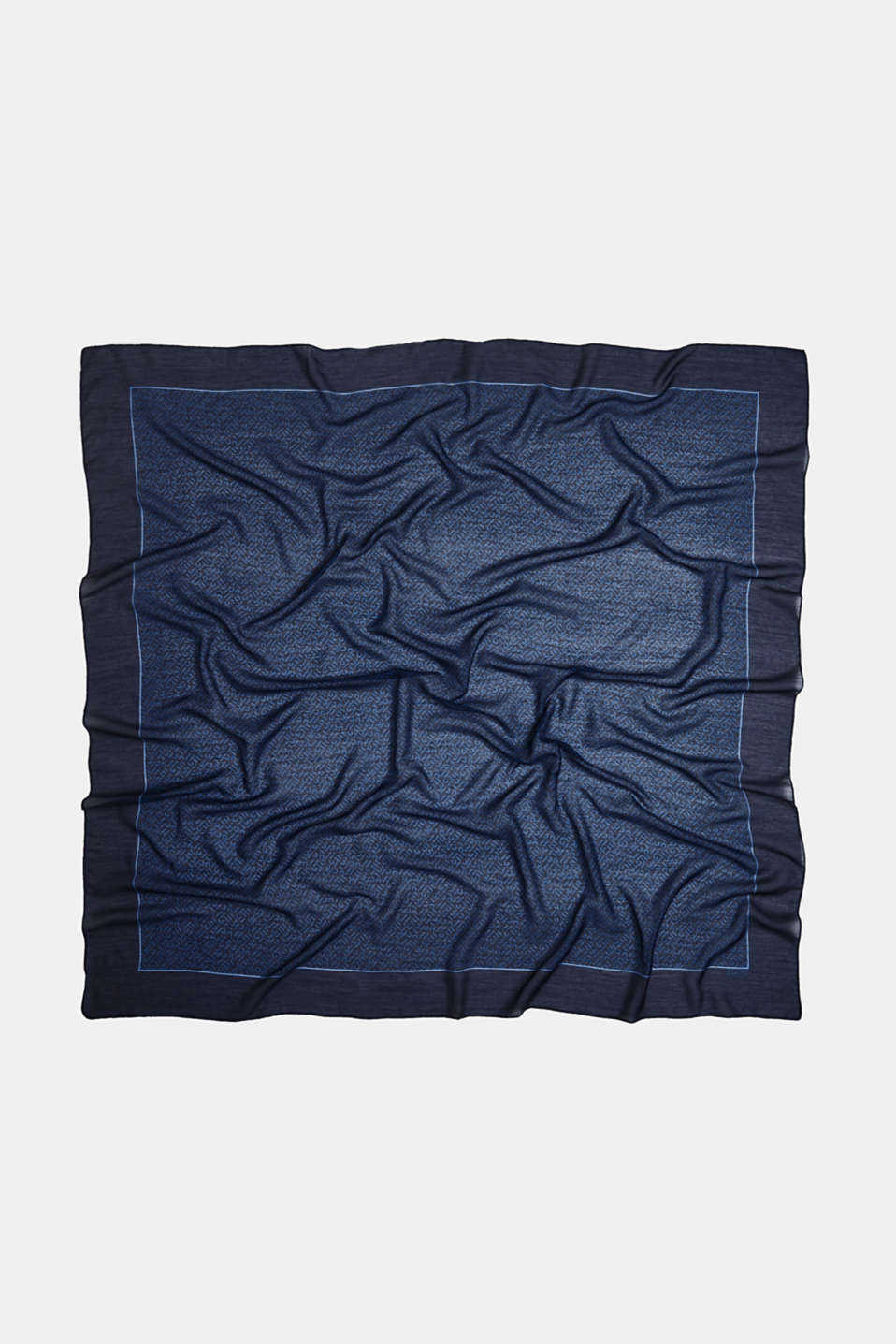 Monogram scarf made of recycled fabric, NAVY 2, detail image number 2