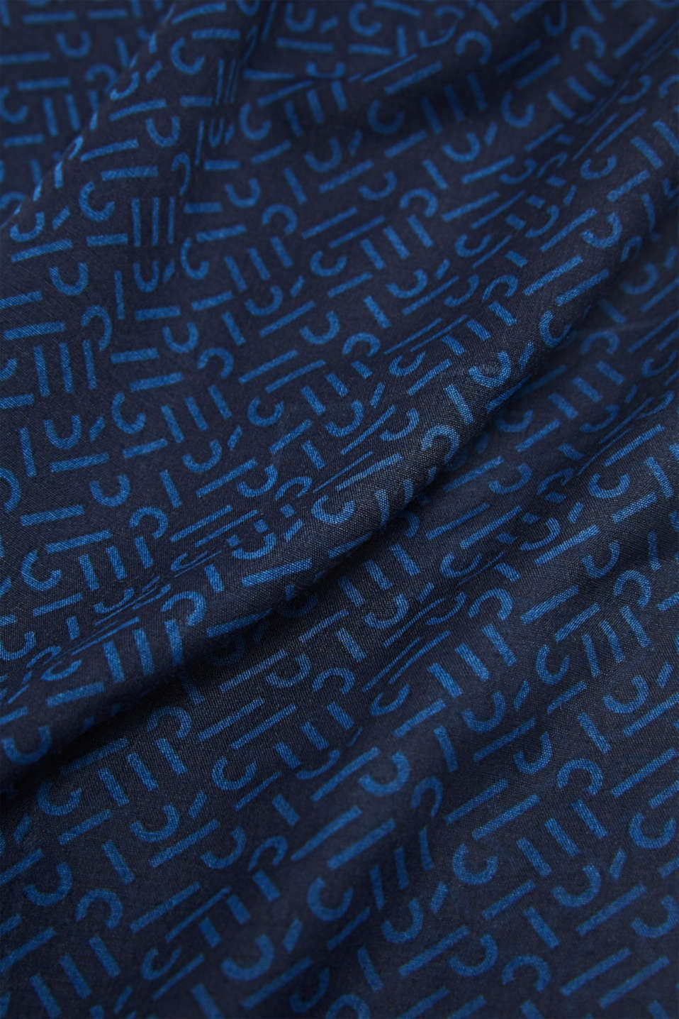 Monogram scarf made of recycled fabric, NAVY 2, detail image number 3