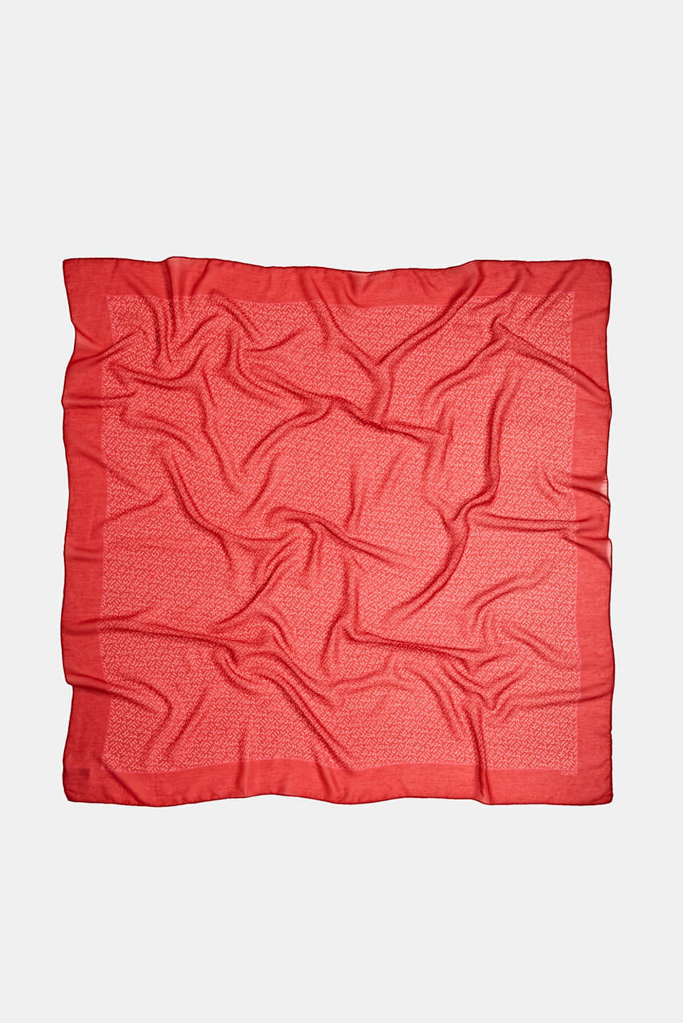 Monogram scarf made of recycled fabric, RED 2, detail image number 3
