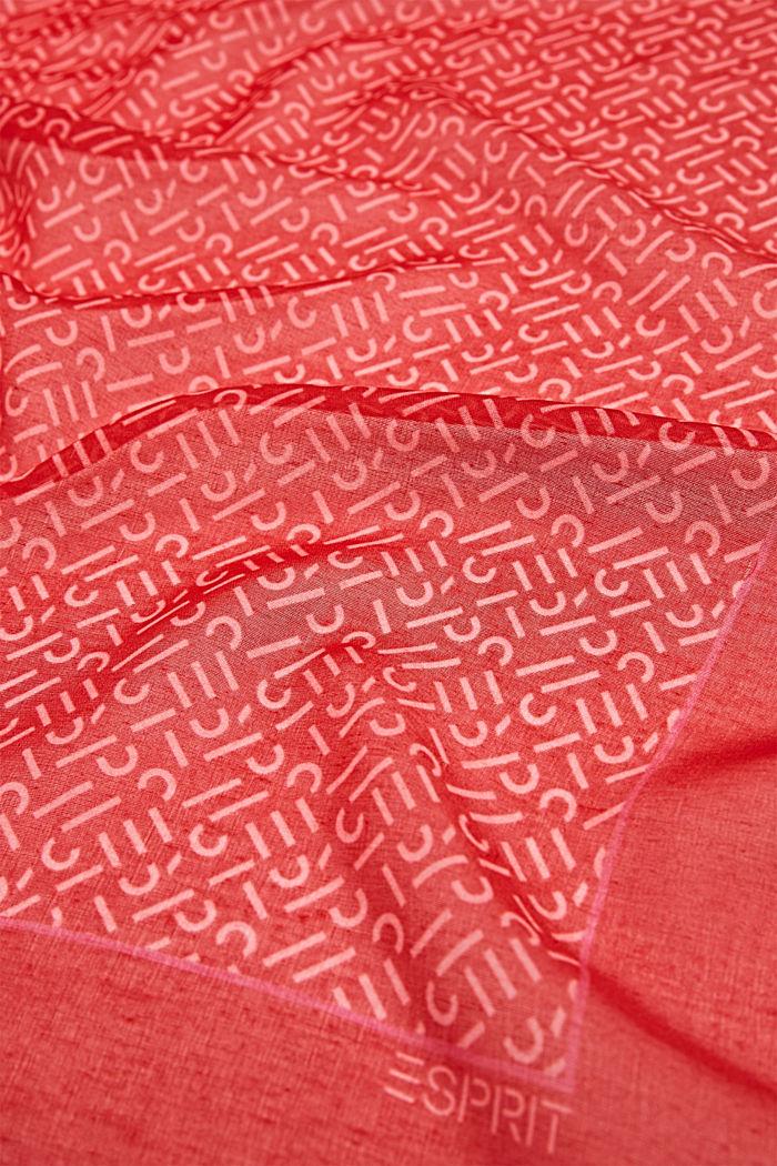 Monogram-scarf av återvunnet material, RED, detail image number 1