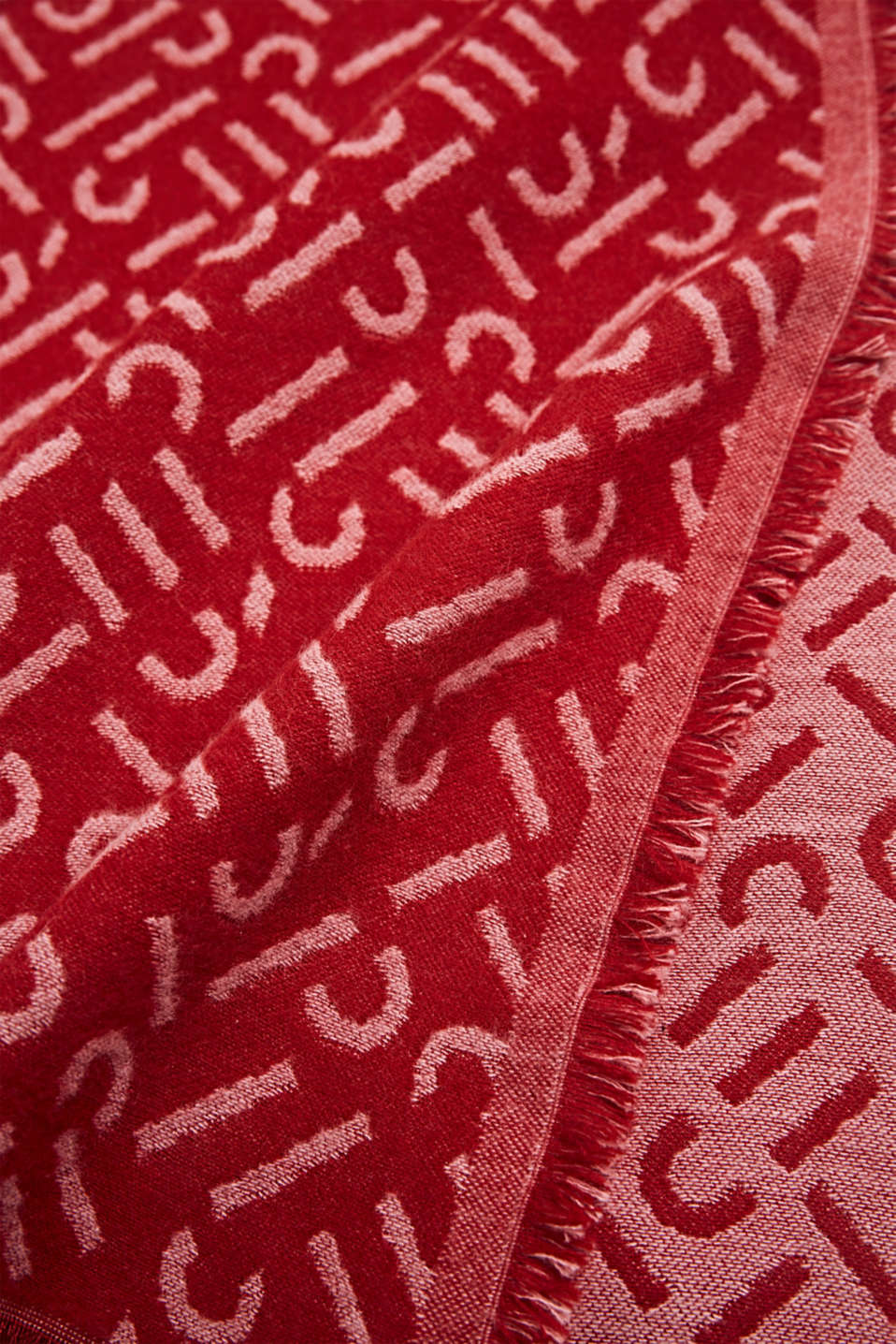 Woven scarf with LENZING™ ECOVERO, DARK RED, detail image number 2