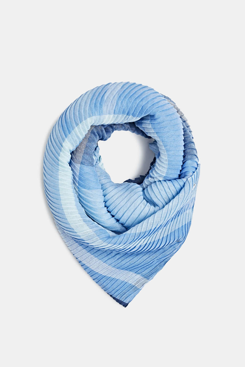 Esprit - Pleated scarf with a check design