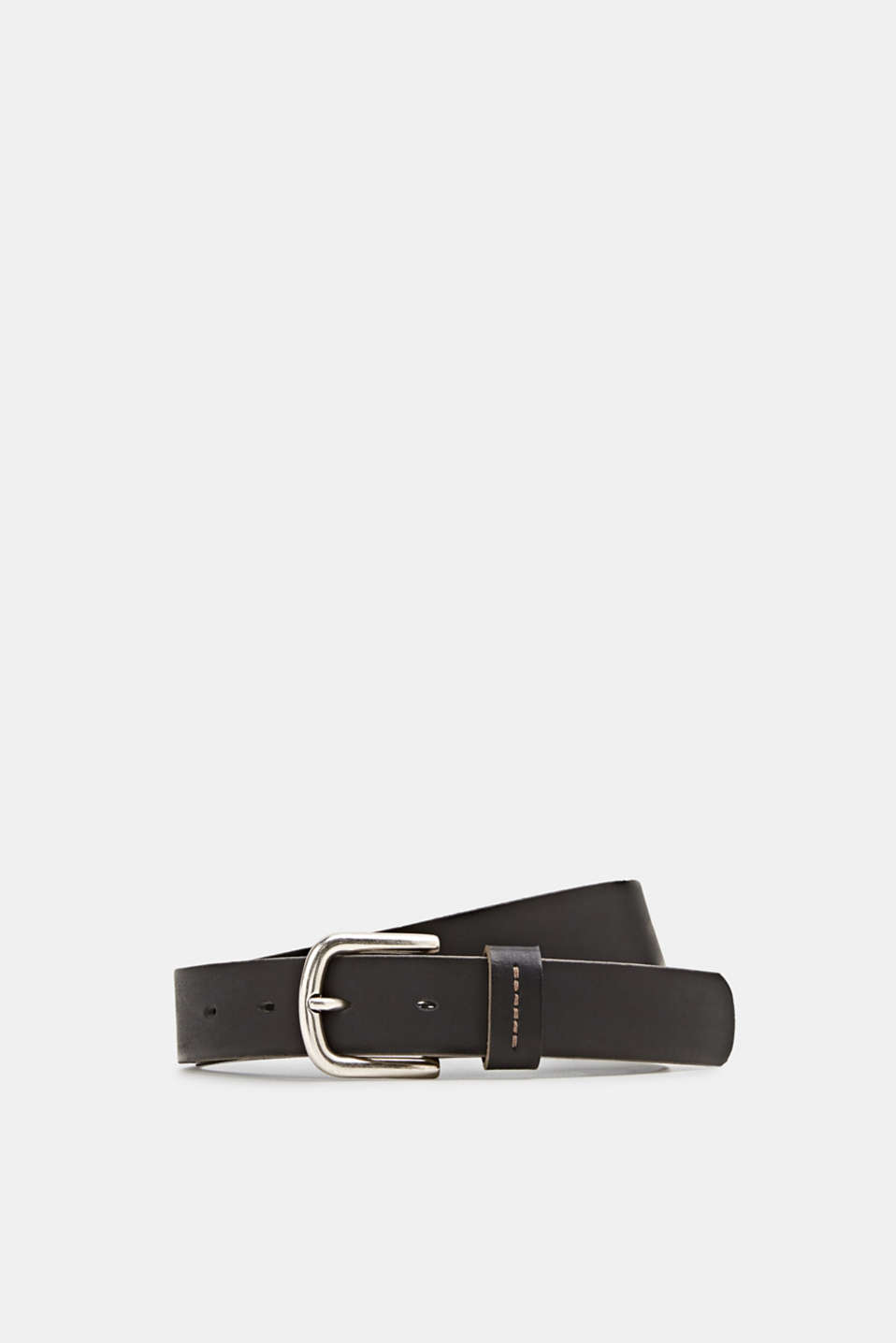 Made of leather: belt with stitching, BLACK, detail image number 0