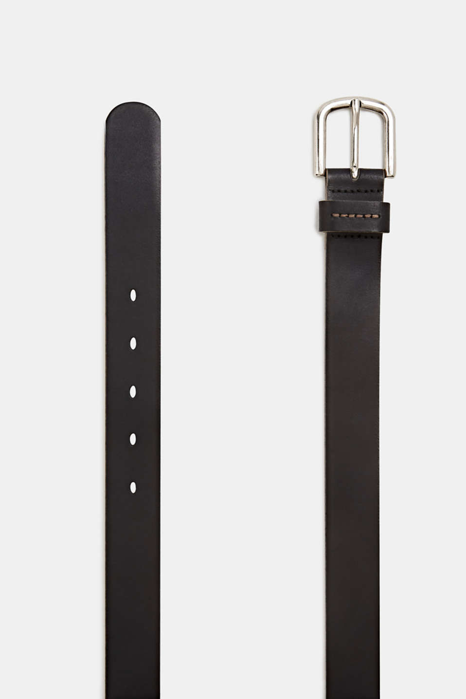 Made of leather: belt with stitching, BLACK, detail image number 1