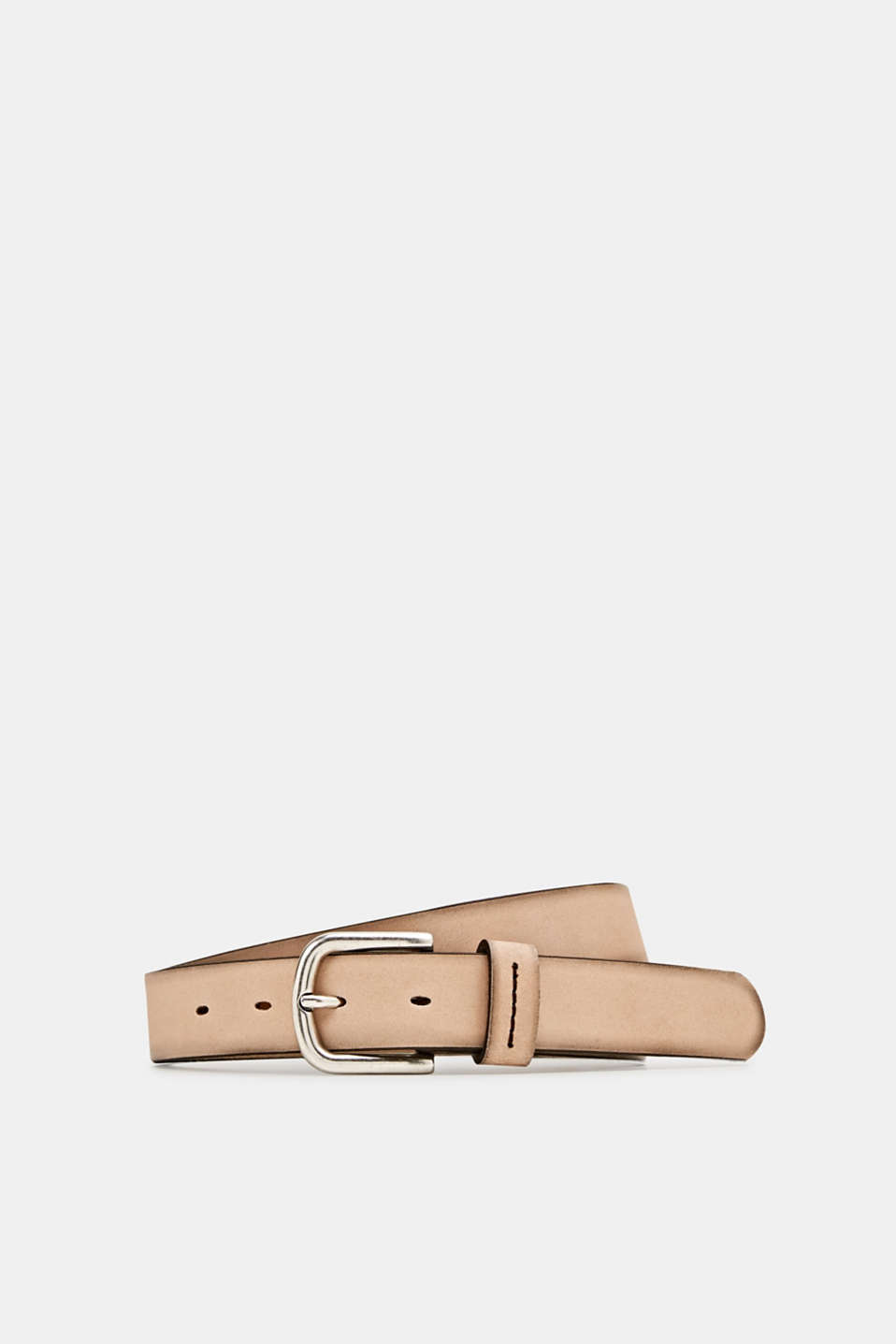 Esprit - Made of leather: belt with stitching