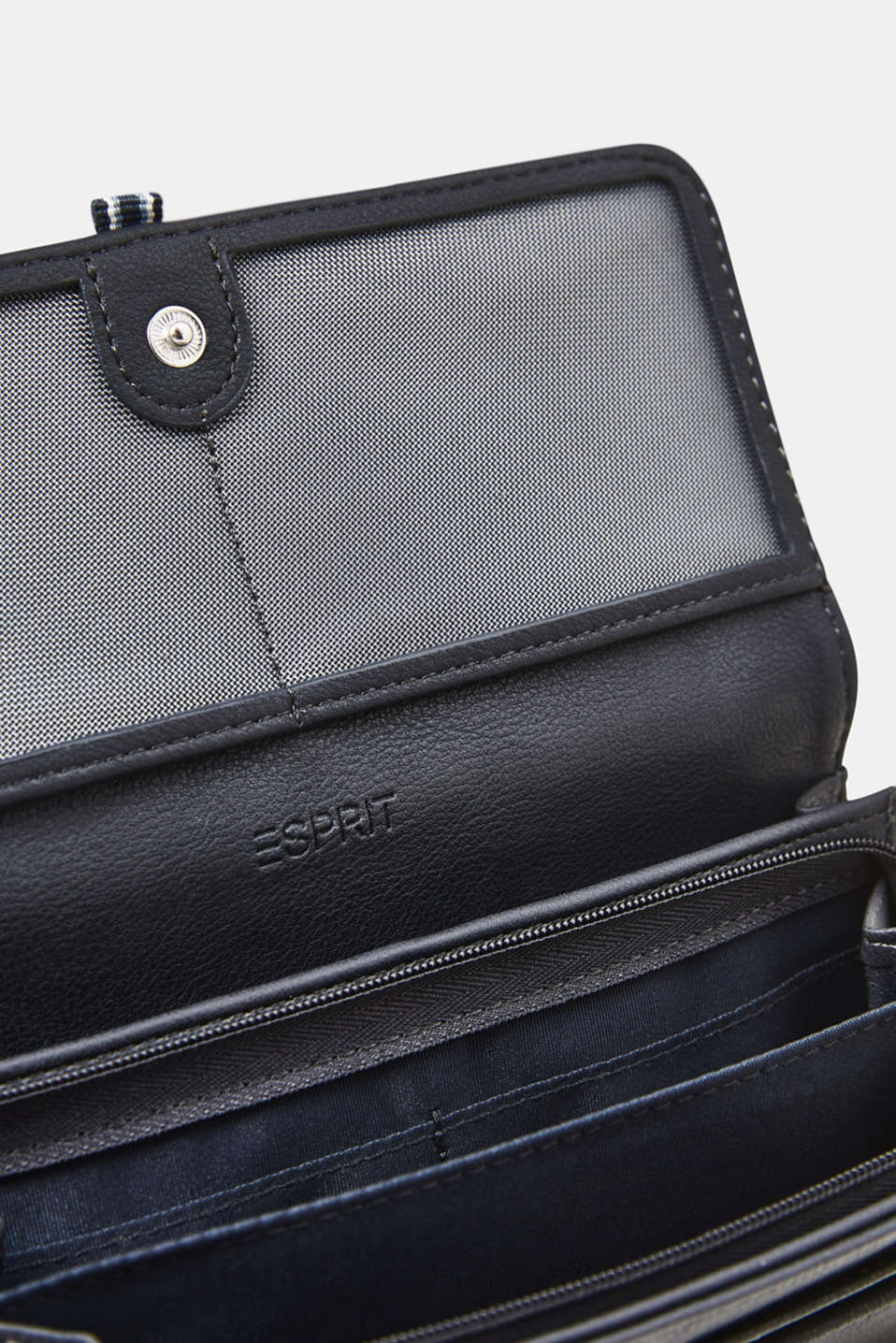 Large purse with a woven tape detail, NAVY, detail image number 1