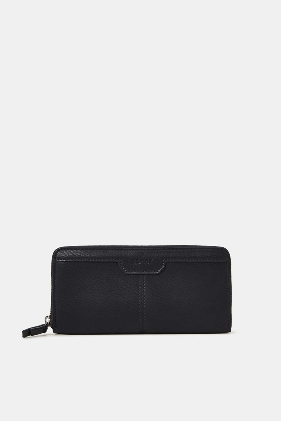 Large purse in a grained look, NAVY, detail image number 0