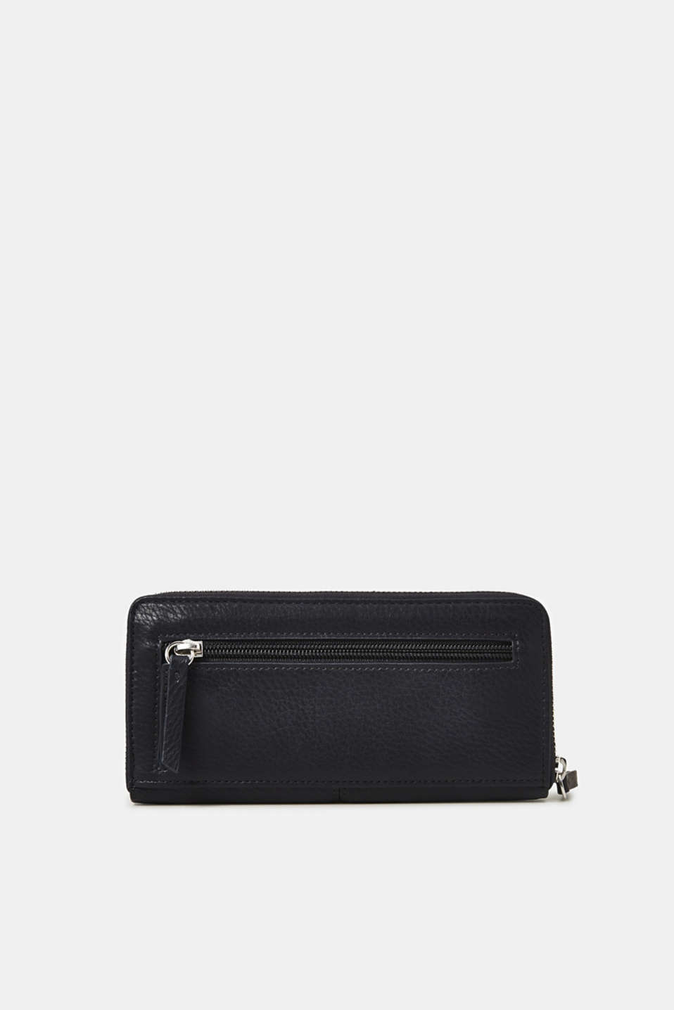 Large purse in a grained look, NAVY, detail image number 2
